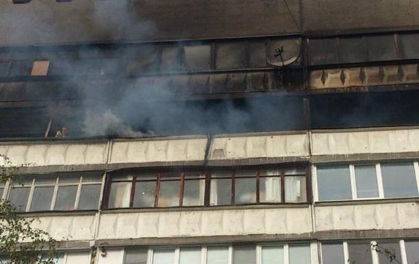 На Харьковщине горит многоэтажка
