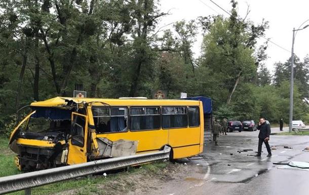 На Киевщине в ДТП попал автобус Нацгвардии, есть жертвы