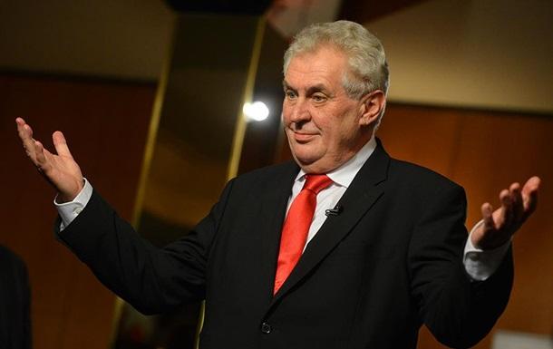 Президент Чехії запропонував узаконити анексію Криму