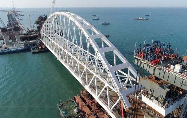 РФ готується до встановлення другої арки мосту в Крим
