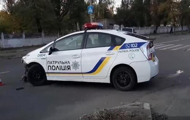 Полицейские разбили служебную машину в Днепре