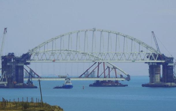 Росія почала установлення другої арки моста в Крим