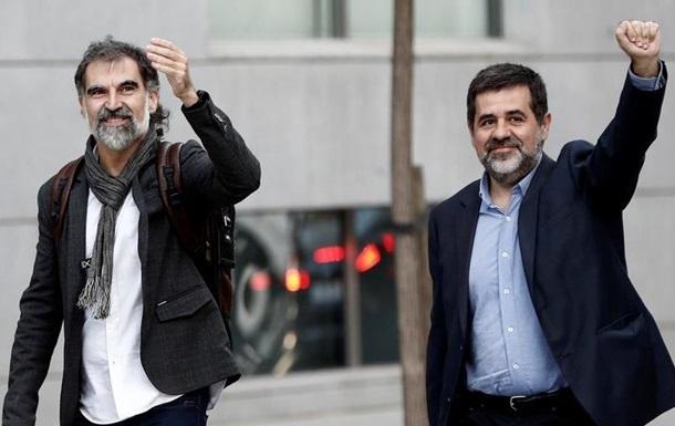 Іспанський суд заарештував двох впливових каталонських сепаратистів