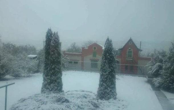 Перший сніг випав у Харкові