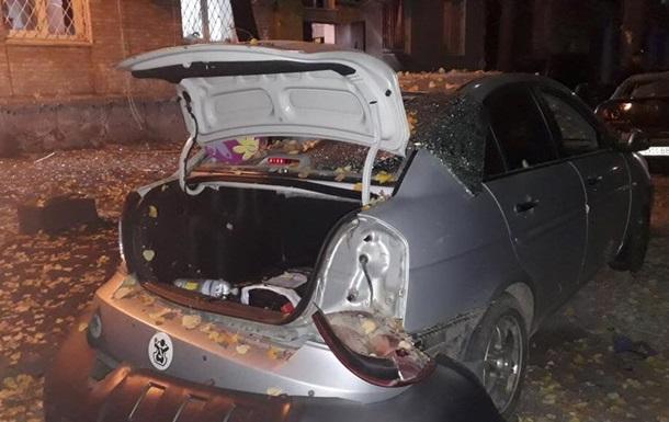 В сети появились видео с места взрыва в Киеве