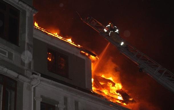 В Киеве сгорело общежитие, в котором жили переселенцы