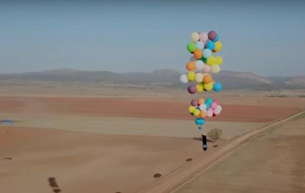 Британец пролетел на гелиевых шариках 20 км