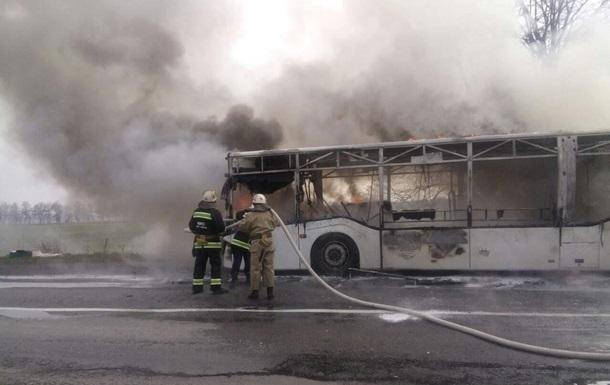 В Винницкой области сгорел рейсовый автобус