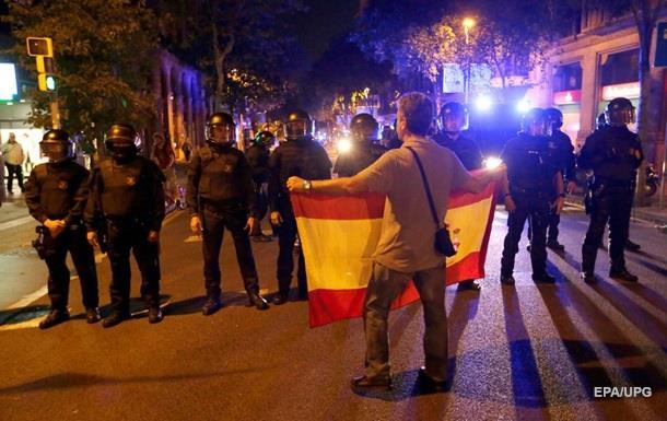 Троє людей поранені на акції проти незалежності в Барселоні