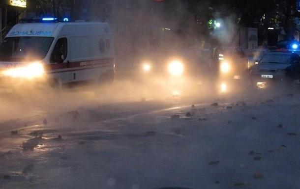 У Києві вулицю біля радіоринку залило окропом