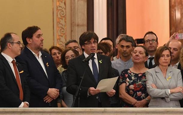 Испания выдвинула обвинения Пучдемону