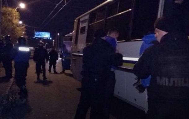 Драка футбольных фанатов в Киеве: 30 задержанных