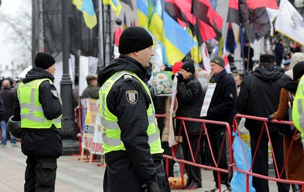 В МВД насчитали около тысячи митингующих под Радой