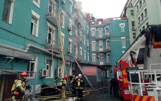 В центре Киева загорелся ресторан