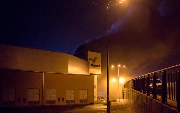 В Киеве горел гипермаркет Ашан