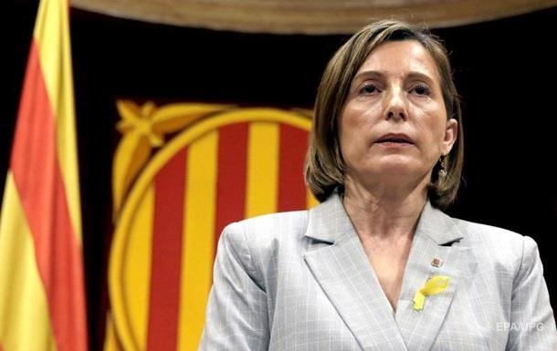 Спікер парламенту Каталонії вийшла під заставу y 150 тисяч євро