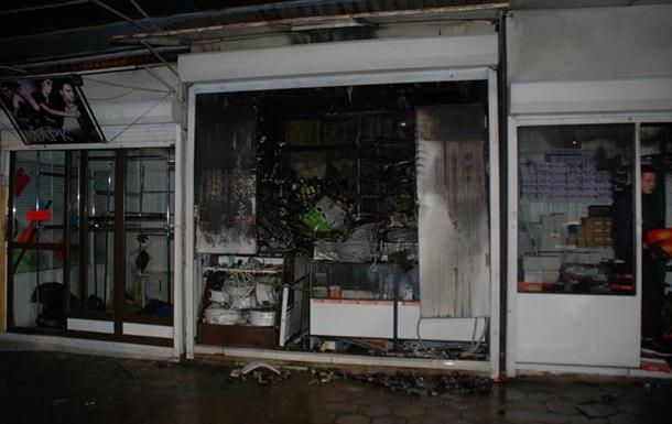 В Сеть выложили видео с пожара на львовском рынке