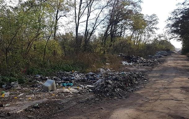 Українські чиновники ігнорують сміттєзвалище на дорозі в Бориспільському районі