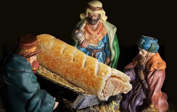 Сосиска вместо Иисуса: в Британии кафе шокировало вертепом