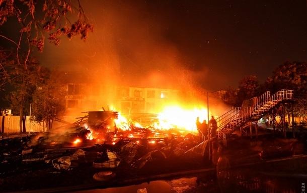 Експерти визначили причину пожежі в таборі Одеси
