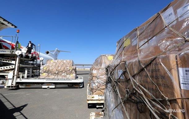 Вйеменский порт Ходейда прибыл 1-ый после блокады корабль сгумпомощью