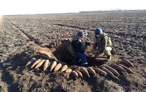 В Запорожской области обнаружен арсенал времен Второй мировой