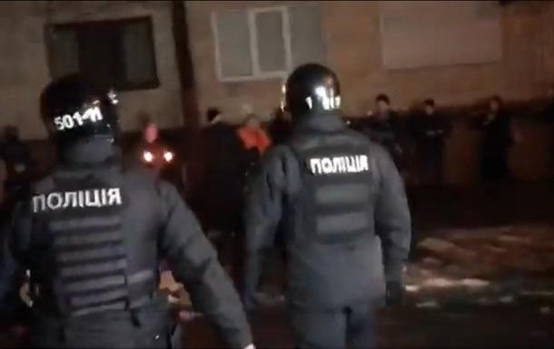 Біля будівлі МВС сутички активістів з поліцією