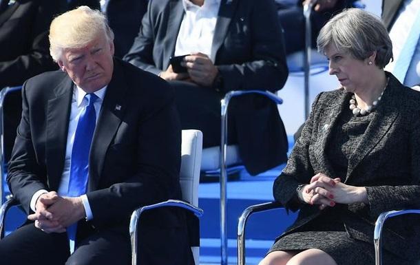 Трамп жорстко відповів на критику Мей