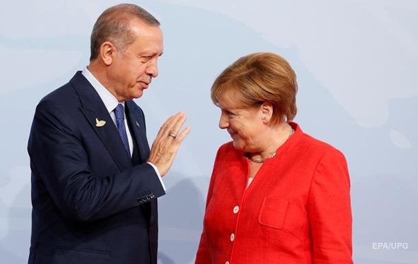 Меркель й Ердоган вперше за довгий час провели переговори