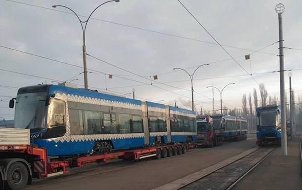 Киев получил новую партию польских трамваев