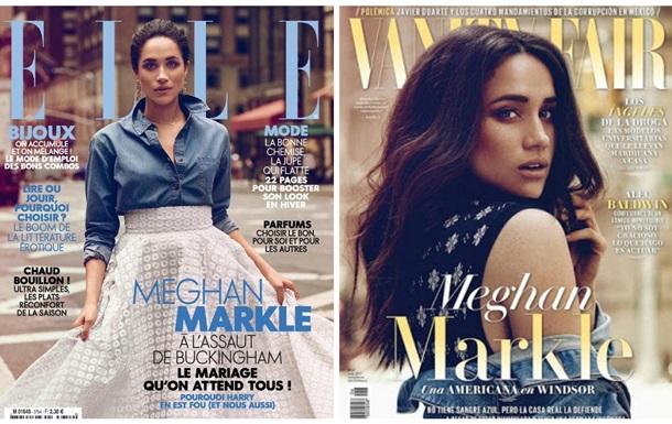 Меган Маркл позує з обкладинок двох модних глянців