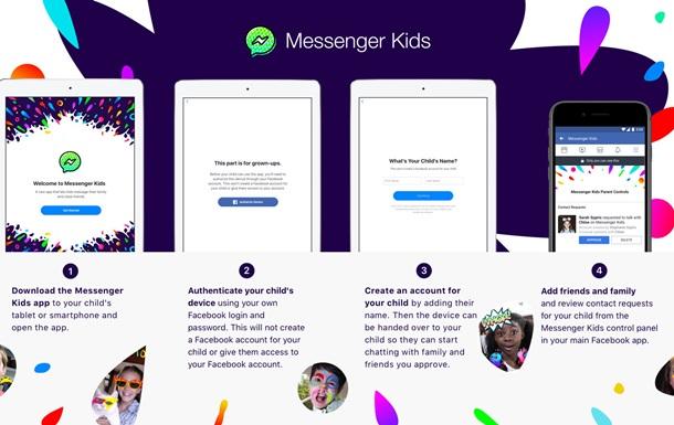 Facebook выпустил детский мессенджер