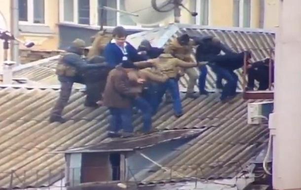Появилось видео задержания Саакашвили на крыше