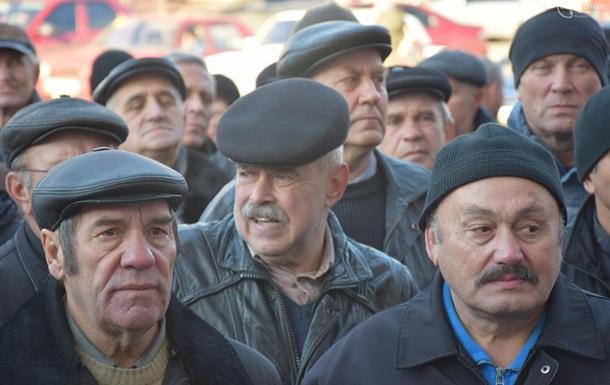 В Мариуполе бывшие милиционеры вышли на митинг