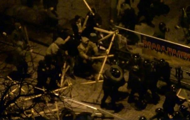 Опубликовано видео столкновений под Радой
