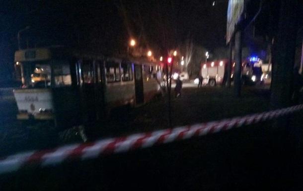 В Одесі загорівся трамвай з пасажирами
