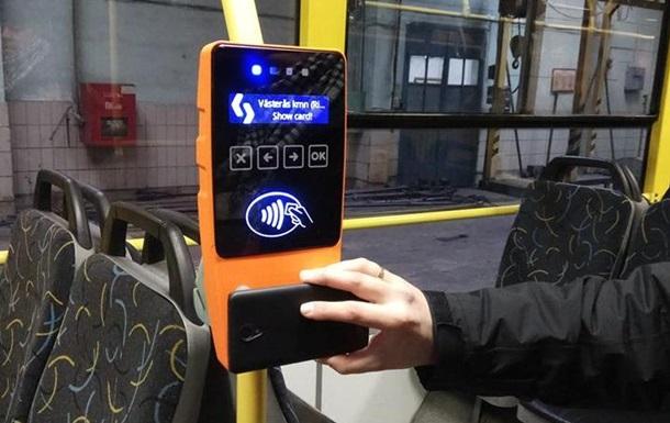 У Києві встановлюють апарати для безконтактної оплати проїзду