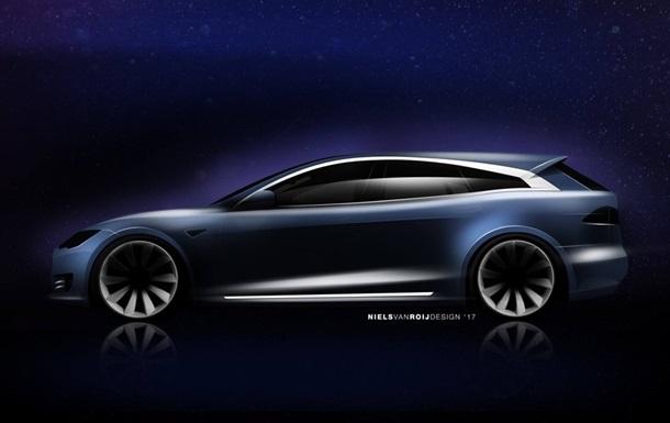Розкрито зовнішність універсала на базі Tesla Model S