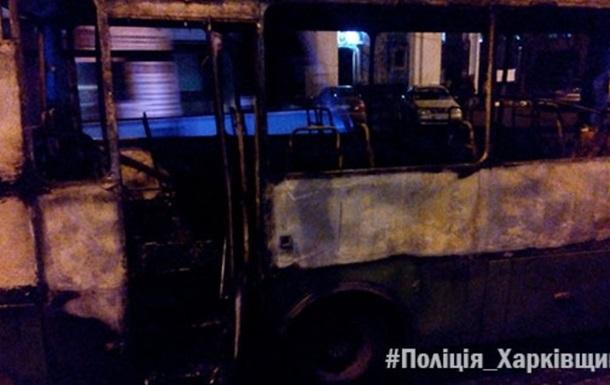 В Харькове на ходу загорелась маршрутка