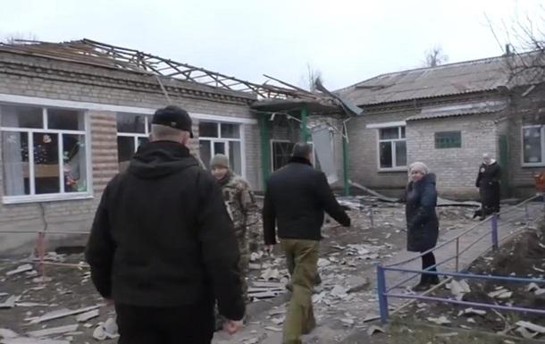 Обнародовано видео Новолуганского после обстрела