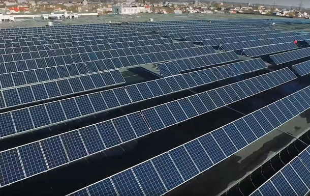 На Львовщине открыли солнечную электростанцию
