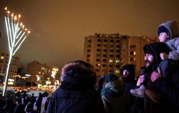 В столице зажгли главную Ханукию Украины
