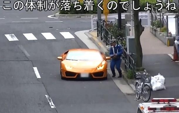 Велополицейский догнал нарушителя на Lamborghini