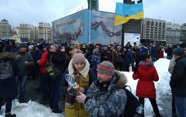 На Майдані протестують проти маршів Саакашвілі