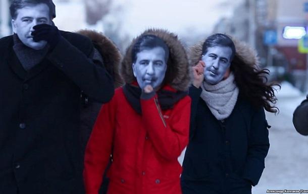 Кілька  Саакашвілі  бігали по російському місту