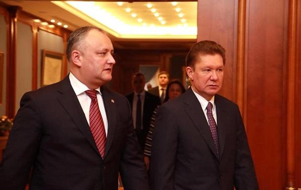 Президент Молдови попросив Газпром про знижку на газ