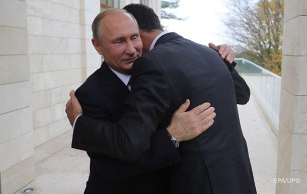 Путін пообіцяв Асаду підтримку в Сирії