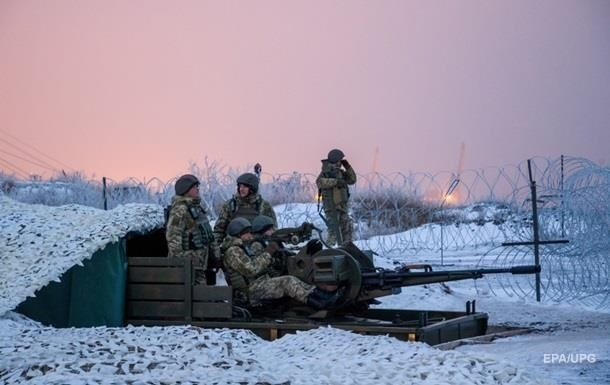 На Новый год военных в АТО обстреляли семь раз