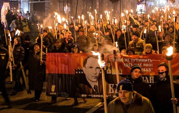По Украине прошли шествия в честь Бандеры