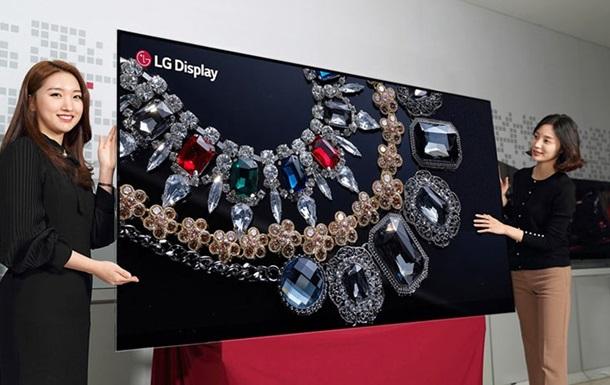 LG показала гигантский OLED-дисплей 8K